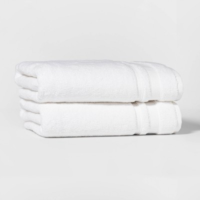 2pk Performance Bath Towel Set White - Threshold™