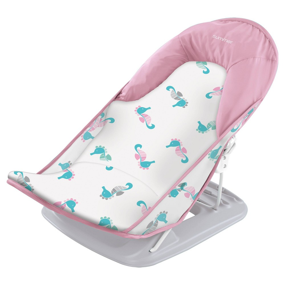 Image of Summer Infant Deluxe Baby Bather Seahorse - Pink/Aqua