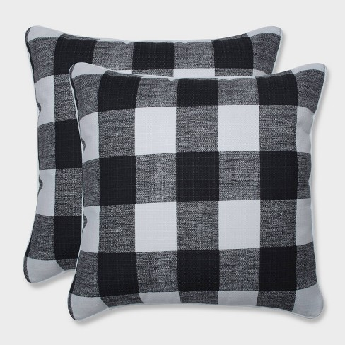 "18.5"" 2pk Anderson Throw Pillows Black - Pillow Perfect - image 1 of 1"