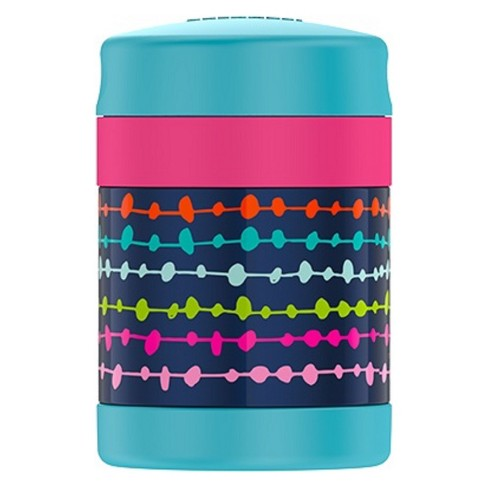 Thermos 10oz FUNtainer Food Jar - Navy Lines & Dots - image 1 of 4