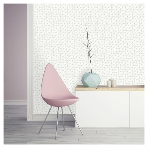 Tempaper - Connect Self-Adhesive Removable Wallpaper - Washed On White - image 1 of 2