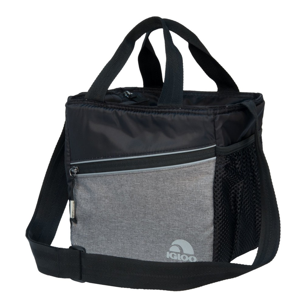 Image of Igloo 9 Can Balance Mini City Cooler Lunch Tote- Gray/Black, Black Gray