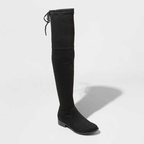 Women's Sidney Microsuede Over the Knee Boots - A New Day™  - image 1 of 4