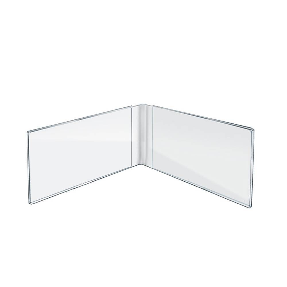 Best Buy Azar Displays 7 X 5 10pk Acrylic Dual Frame Sign Holders Medium Clear