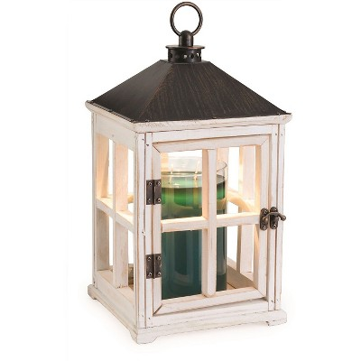 Wooden Lantern Candle Warmer White - Candle Warmers Etc.®