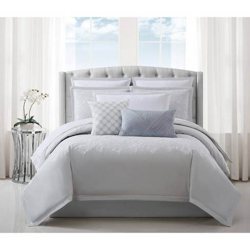 Charisma Celini California King Comforter Set Gray/White : Target