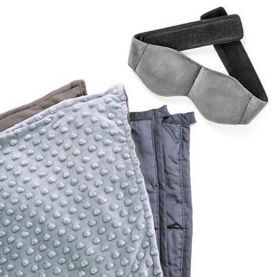 Yogasleep Weighted Blanket and Weighted Eye Mask Bundle, Grey