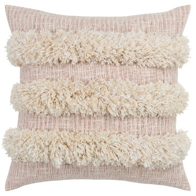 """20""""x20"""" Striped Pillow Cover Blush - Donny Osmond Home"""