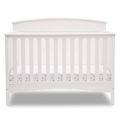Delta Children Deluxe Archer 6-in-1 Convertible Crib - Bianca White