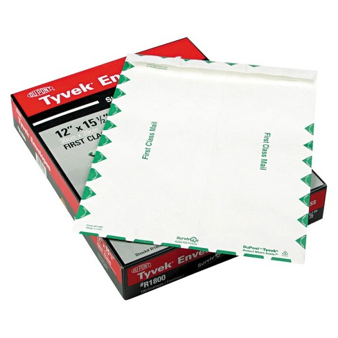 Survivor Tyvek 15 x 15-1/2 USPS First Class Mailer with Side Seam - White (100 Per Box) - image 1 of 1