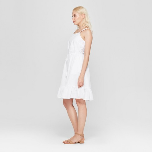 6c1698410ef Women s Sleeveless Apron Ruffle Dress - A New Day™ White. Shop all A New Day