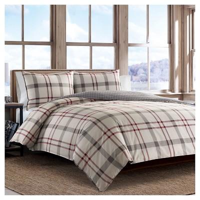 Portage Bay Plaid Comforter And Sham Set (Twin)Silver - Eddie Bauer®