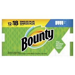 Bounty Select-A-Size Paper Towels - Single Plus Rolls = Regular Rolls