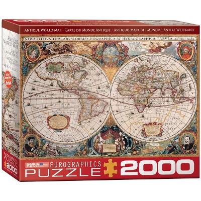 Eurographics Antique World Map Puzzle 2000pc