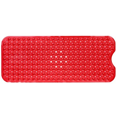 XL Non-Slip Bathtub Mat with Drain Holes Red - Slipx Solutions