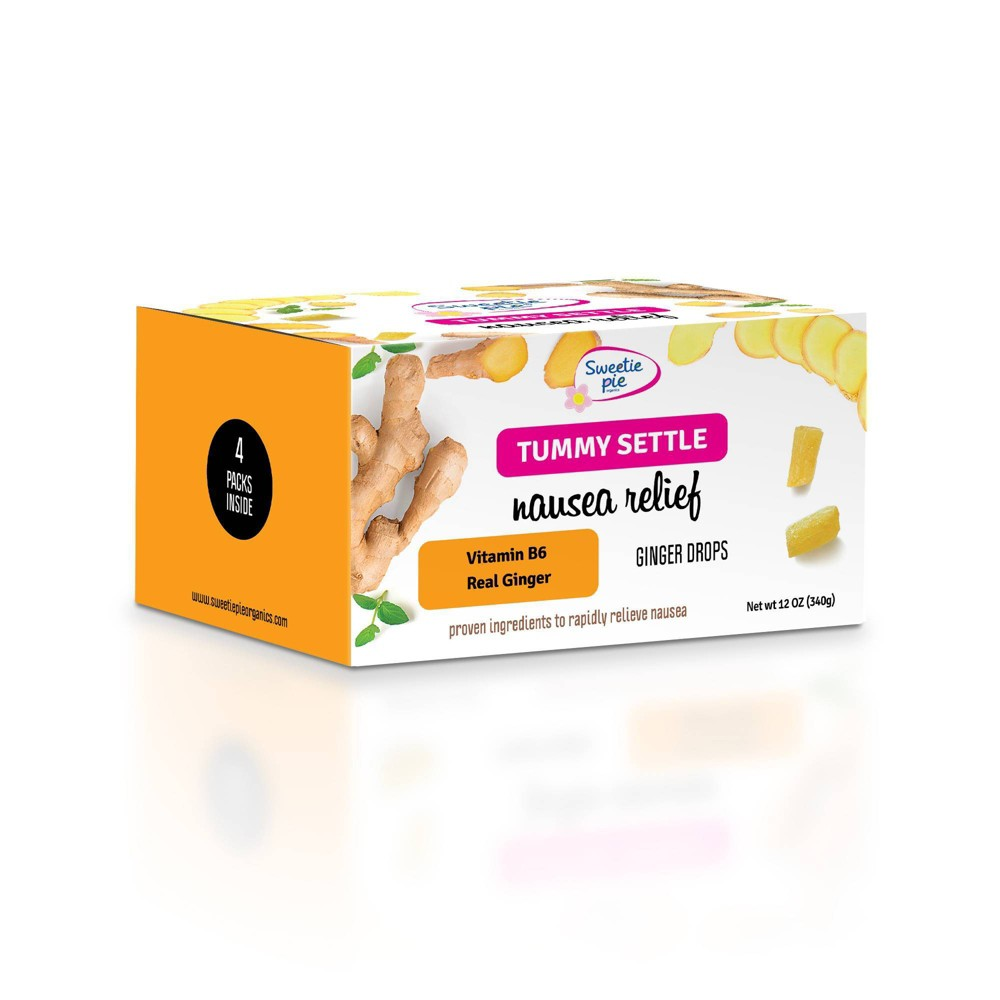 Image of Sweetie Pie Organics Tummy Settle Nausea Relief Ginger Drops - 4pk