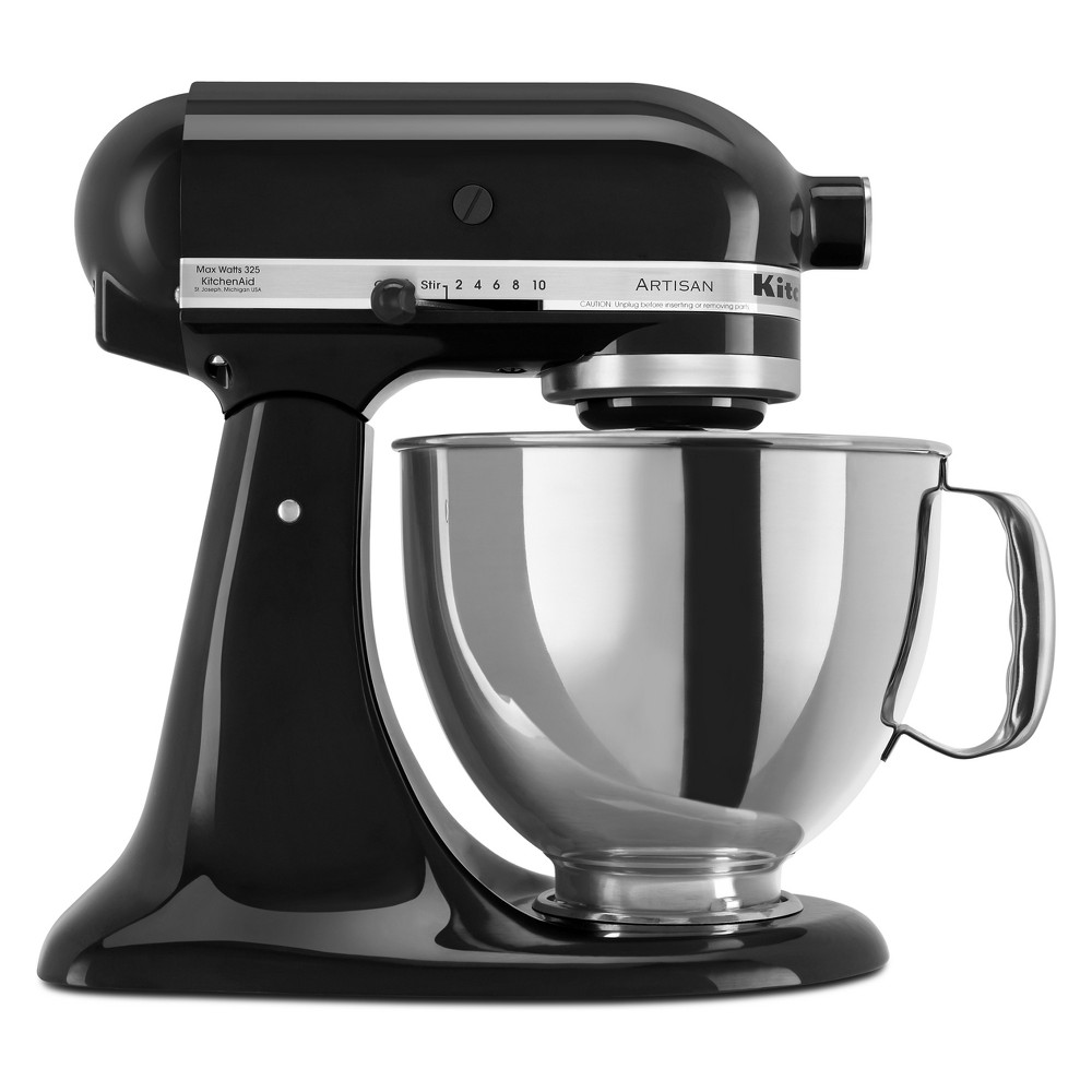 KitchenAid Refurbished Artisan Series 5qt Stand Mixer Black RRK150OB