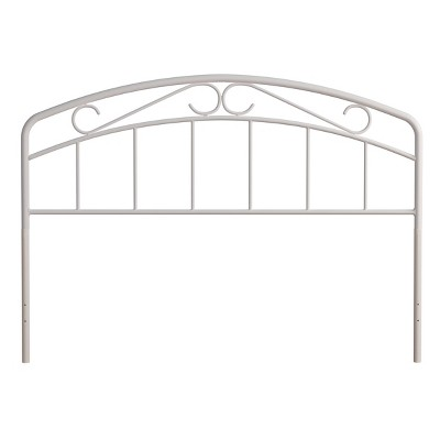 Jolie Metal Headboard with Arched Scroll Design White - Hillsdale Furniture