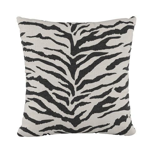 Zebra Square Throw Pillow Cream - Cloth & Co. - image 1 of 4