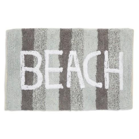 Juvale Non Slip Bath Mat Beach, Beach Bathroom Rugs