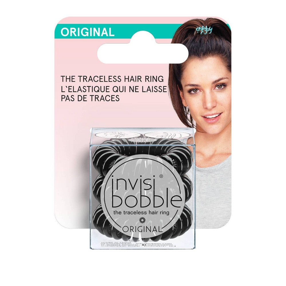 Image of invisibobble Original True Black Hair Elastic, Black Clear Gold