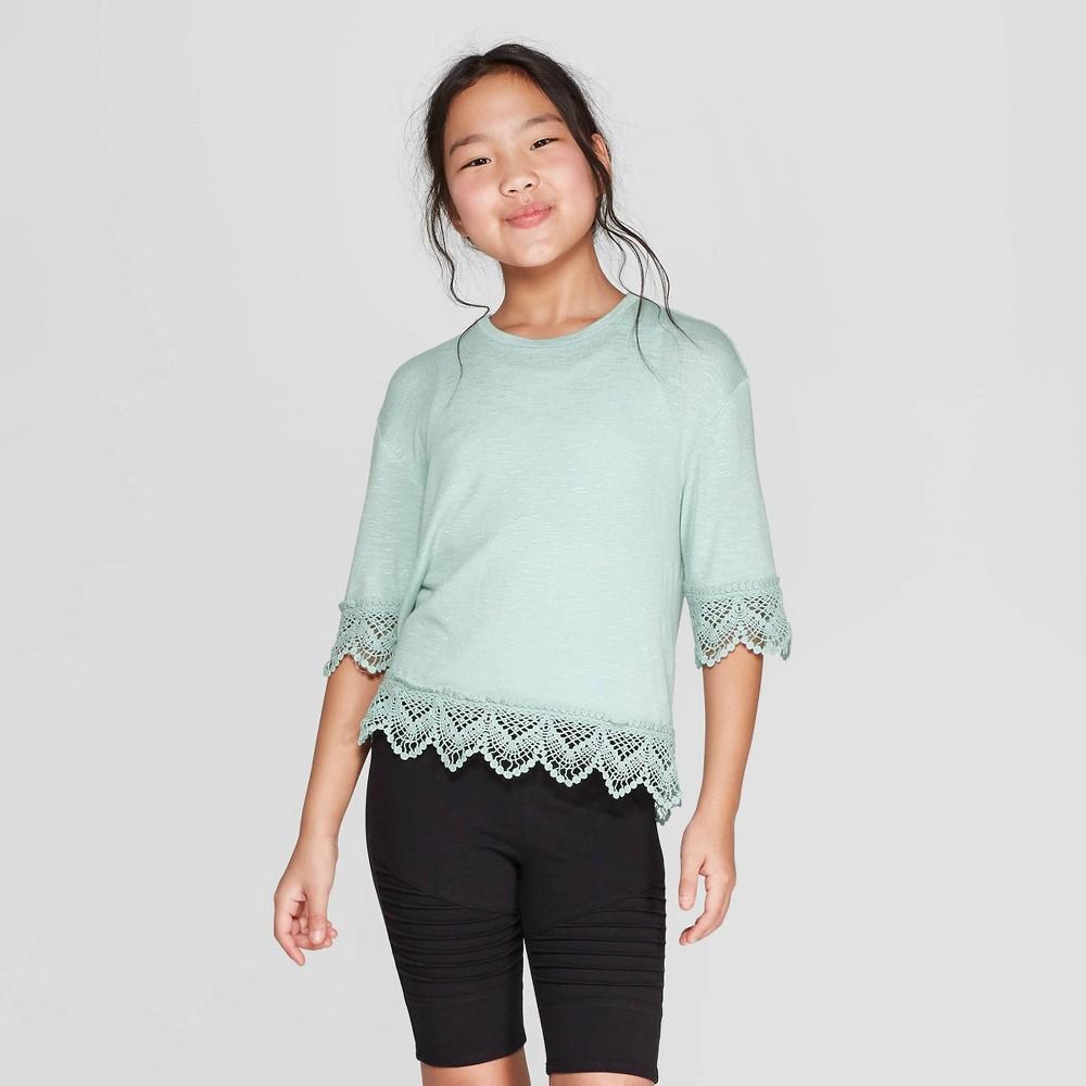 Girls' Short Sleeve Hacci T-Shirt - art class Blue M