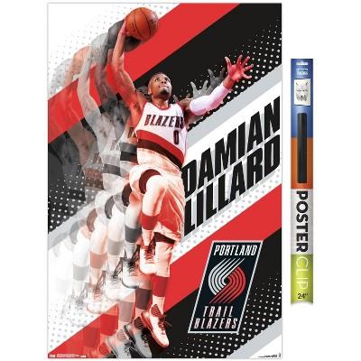 Trends International NBA Portland Trail Blazers - Damian Lillard 17 Unframed Wall Poster Prints