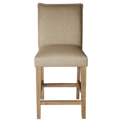"25"" French Seam Counter Stool Khaki - Nate Berkus™ - image 1 of 4"
