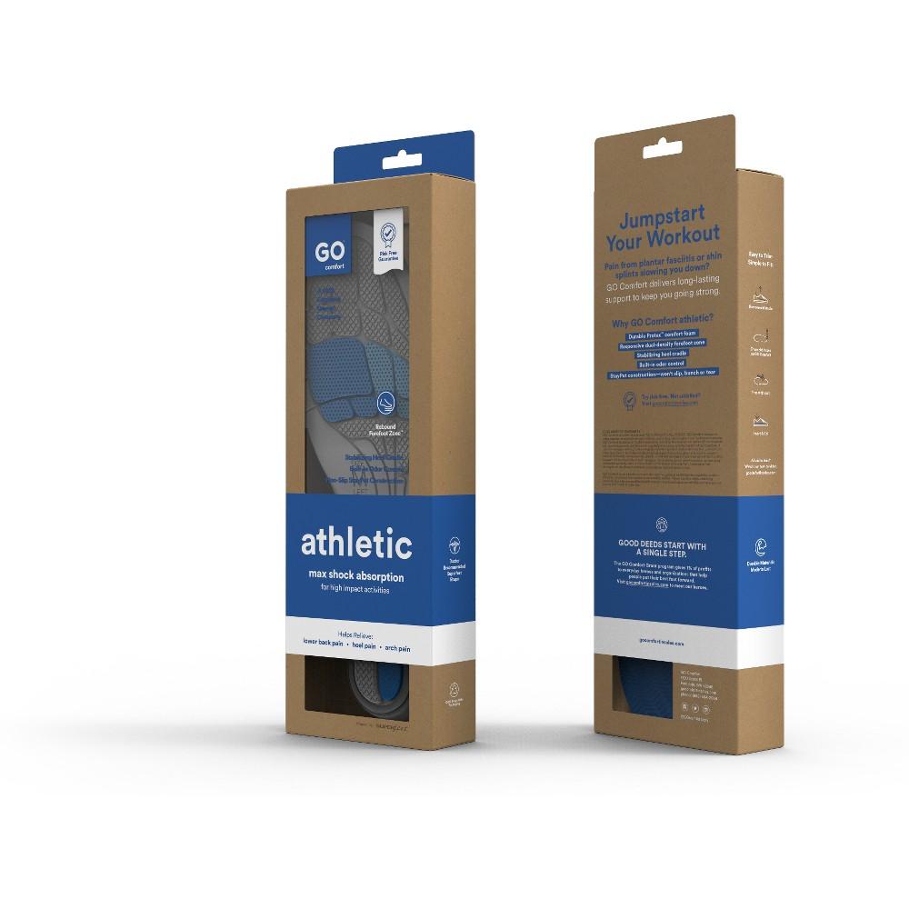 GO Comfort Athletic Insoles - Medium, Deep Charcoal
