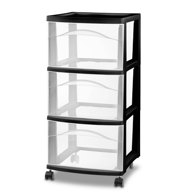 3 Drawer Medium Cart Black - Room Essentials™