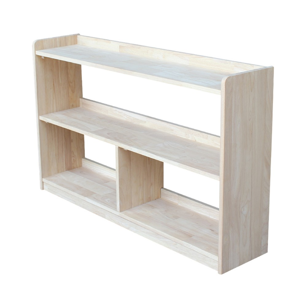 Abby 30 Divided Bookcase - Unfinished - International Concepts, Wood