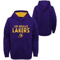 NBA Los Angeles Lakers Boys' Jump Shot Raglan Performance Hoodie - Gray
