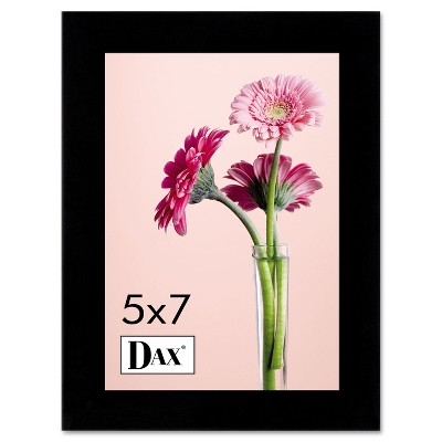 Dax Solid Wood Photo/Picture Frame Easel Back 5 x 7 Black 1826H3T