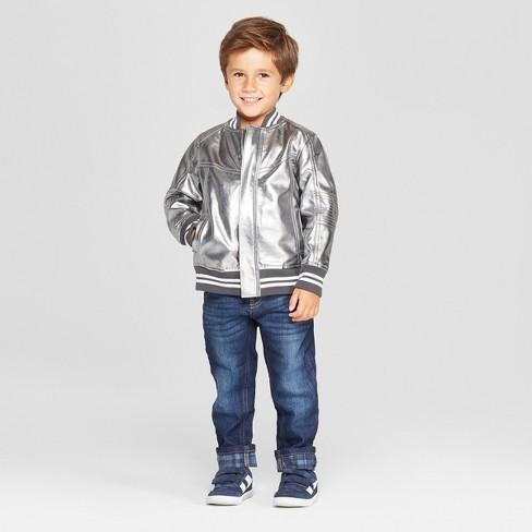 56d1ad66 Genuine Kids® From OshKosh Toddler Boys' Metallic Bomber Jacket ...