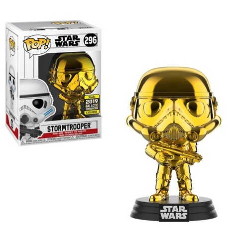 Funko POP! Star Wars: Gold Chrome Stormtrooper (Shared Exclusive) - image 1 of 3