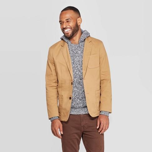 Men's Standard Fit Twill Kenwood Blazer - Goodfellow & Co™ Dapper Brown - image 1 of 3