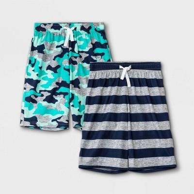 Boys' 2pk Camo Shorts Pajama Set - Cat & Jack™ Gray