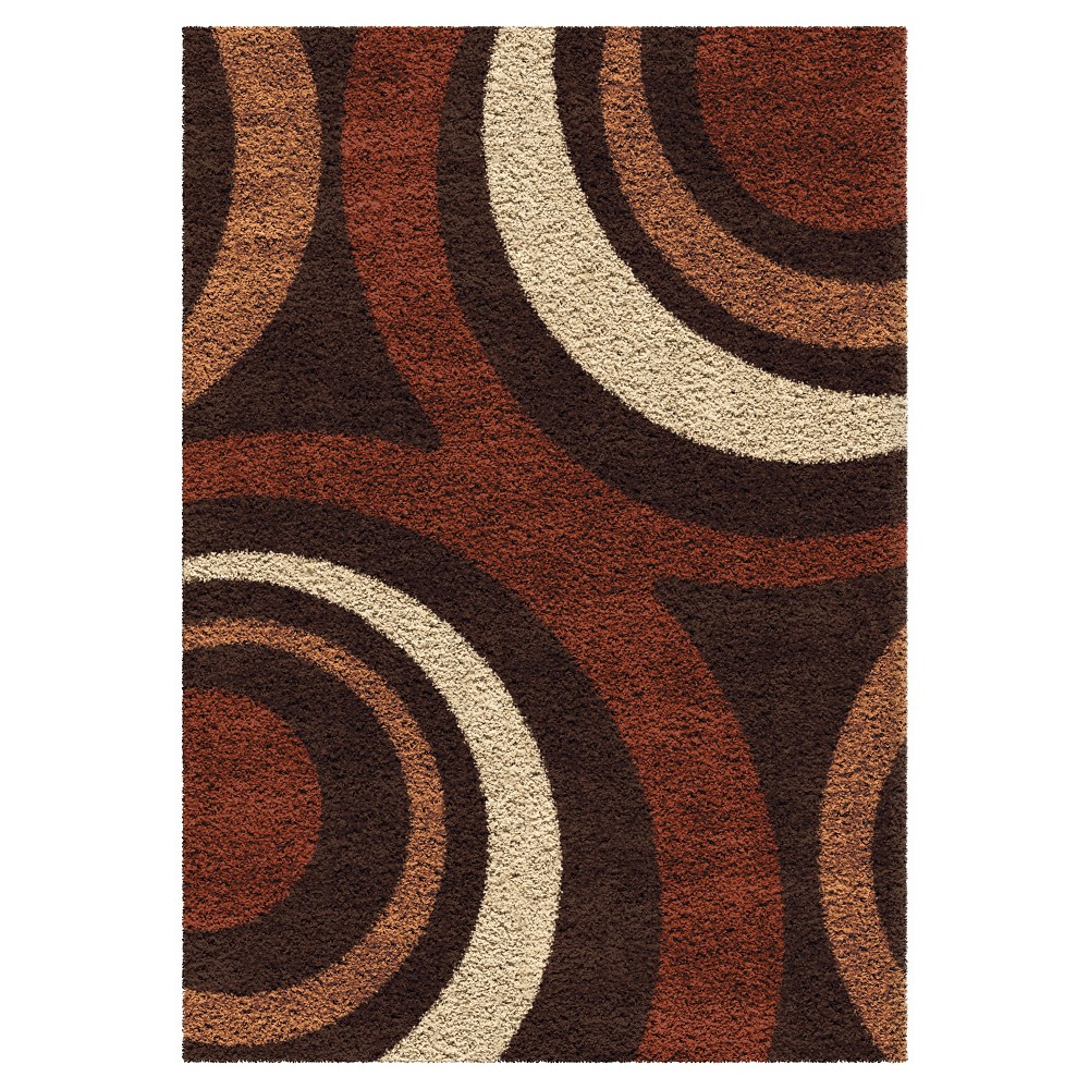 """Image of """"Fire Hole Rug - Brown - (5'3""""""""X7'6"""""""") - Orian"""""""