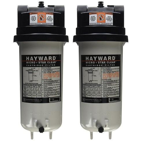 Hayward Micro Star Clear C225 Replacement Swimming Pool Cartridge Filter (2  Pk)