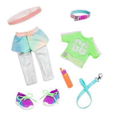 """Glitter Girls Let's Go for a Run Dog Walking Outfit for 14"""" Dolls"""