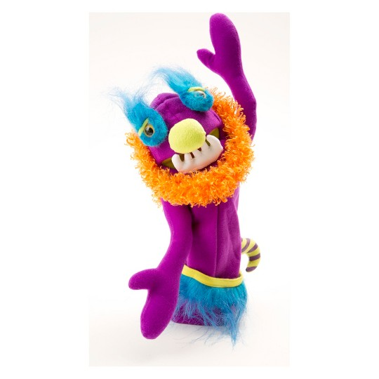 Melissa & Doug Make-Your-Own Fuzzy Monster Puppet Kit With Carrying Case (30pc) image number null