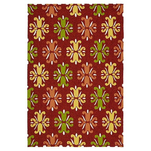 Kaleen Rugs Escape Medallions Indoor/Outdoor Area Rug Red 2'x3' - image 1 of 3