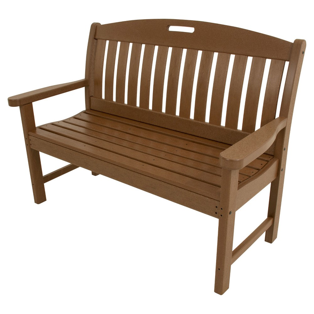 """Image of """"Avalon 48"""""""" Outdoor All-Weather Patio Bench - Teak - Hanover"""""""