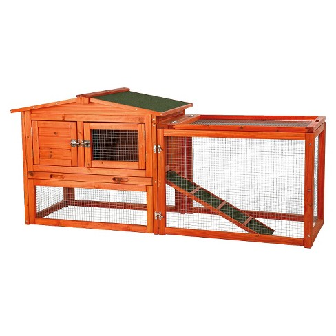Rabbit Hutch with Outdoor Run - Medium - image 1 of 3