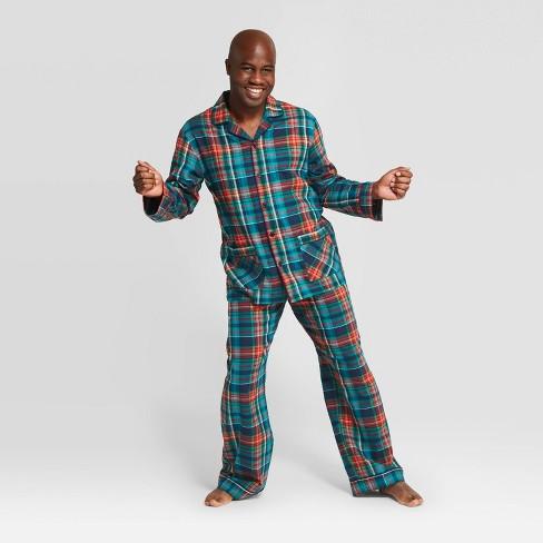 Men's Plaid Holiday Tartan Flannel Pajama Set - Wondershop™ Blue - image 1 of 3
