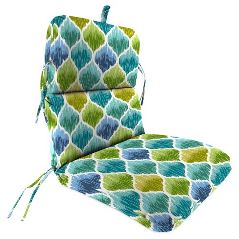 Outdoor Knife Edge Dining Chair Cushion In Denali Caribbean Jordan Manufacturing