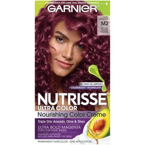 Garnier Nutrisse Ultra Color Nourishing Permanent Hair Color Crème - Medium  Intense Magenta