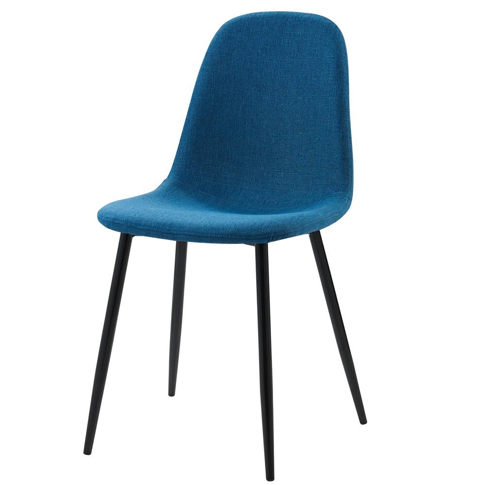 Image of Set of 2 Minimalista Fabric Chairs - Blue - Versanora