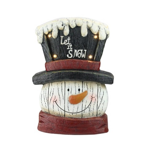 """Northlight 13"""" Pre-Lit LED Snowman Weathered Table Top Christmas Decoration - image 1 of 4"""