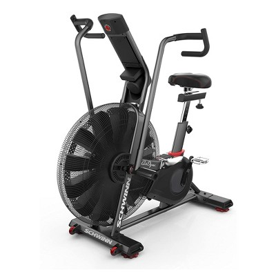 Schwinn Fitness Airdyne AD7 Home Workout Stationary Upright Cardio Exercise Bike with Telemetric Heart Rate Technology and LCD Display